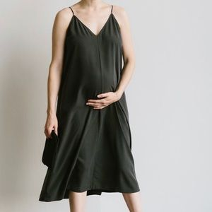 Storq Black Maternity Slip Dress